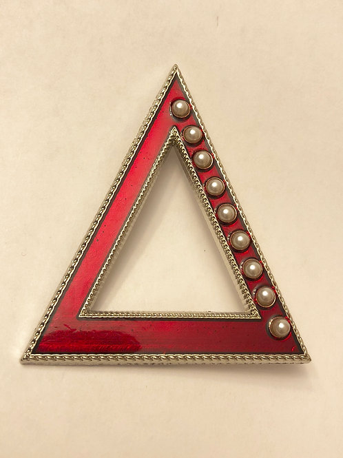 DST Delta and Pearls Lapel Pin