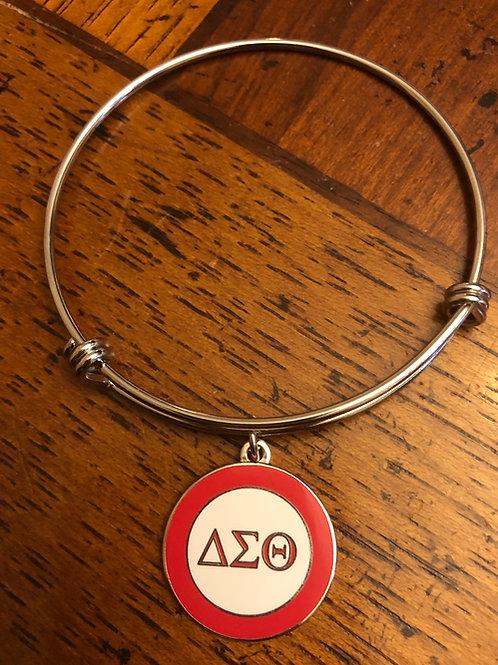 Delta Red and White LTR Stainless Bracelet