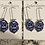 Thumbnail: Zeta Phi Beta Mini Shield Earrings