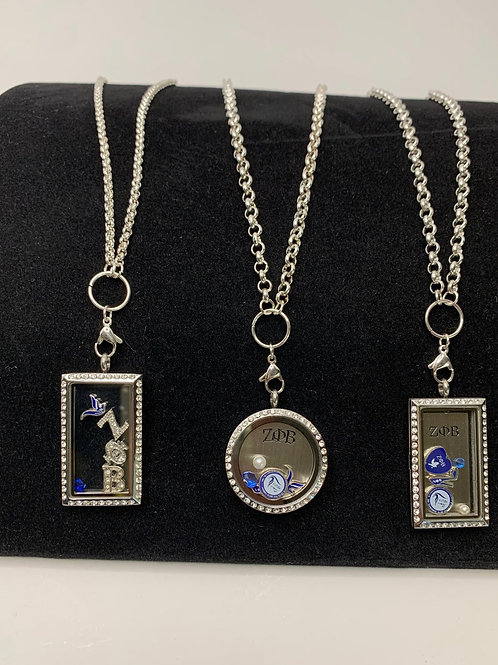 Zeta Floating Lockets (Plates sold separately)