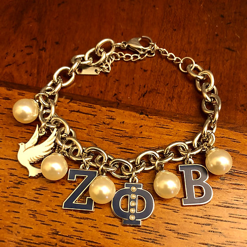 Zeta Phi Beta Stainless Bracelet