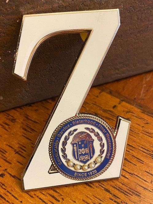 Zeta Executive Shield Z Lapel Pin