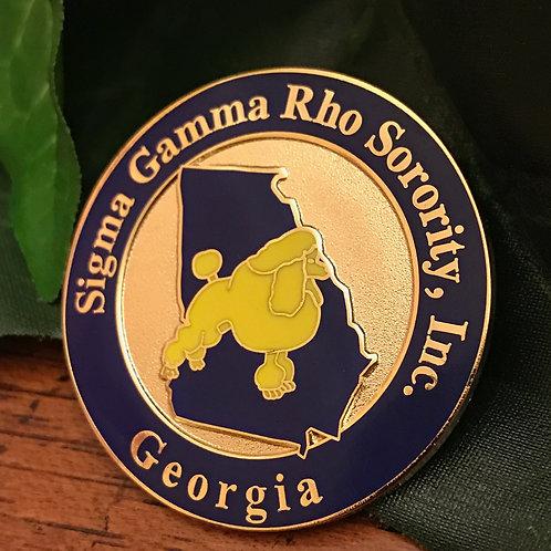 Sigma Gamma Rho Georgia Lapel Pin