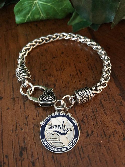 Zeta Southeastern Region Lobster Claw Bracelet