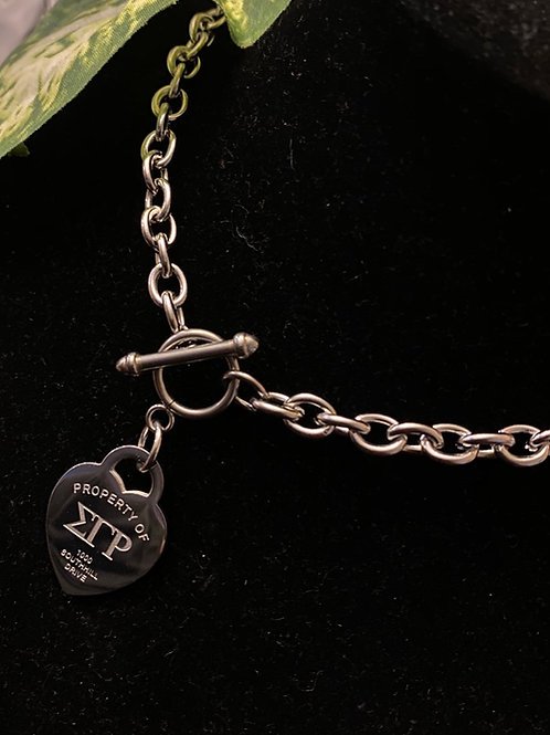 SGRho Stainless Heart Necklace