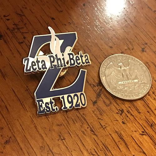 Zeta Phi Beta Est. 1920 Lapel Pin