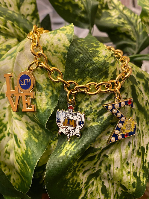 SGRho Stainless Build a Bracelet -3 Charms