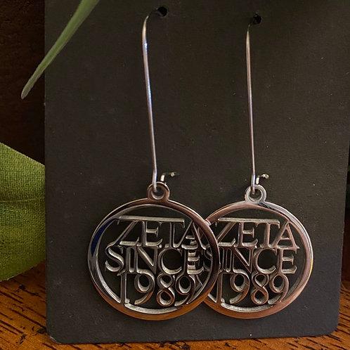 Zeta Since  (1980-2009) Stainless Earrings