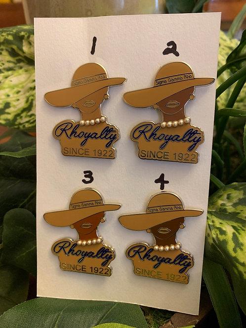 SGRho Lady Rhoyalty Lapel Pin