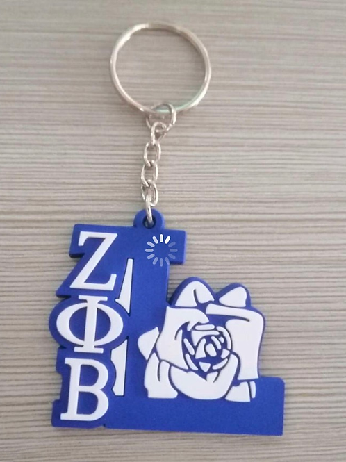 Zeta Life Member Keychain