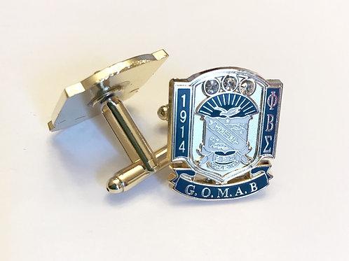 Phi Beta Sigma G.O.M.A.B. Cufflinks
