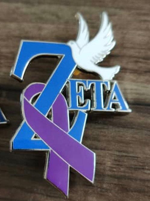 Zeta Domestic Violence Pin -Final Wave