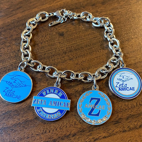 Zeta Amicae Build a Stainless Bracelet (4 Charms)