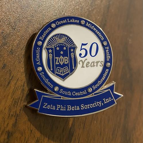 Zeta 25 Years of Service Pin