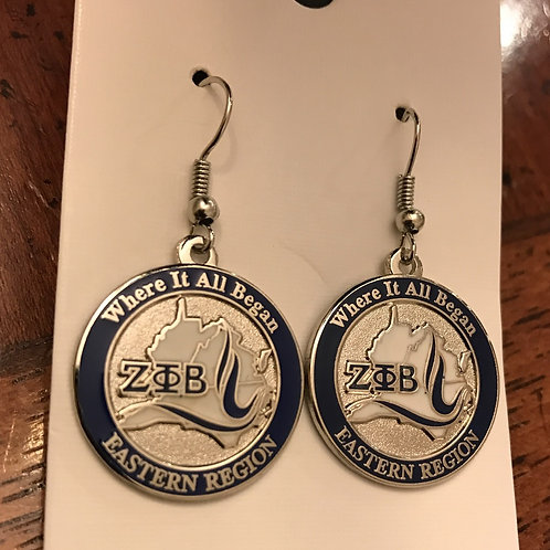 Zeta Phi Beta Eastern Region Earrings
