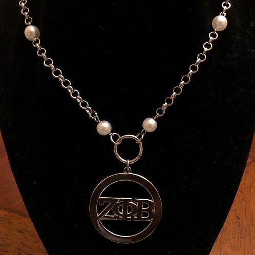 Zeta Phi Beta LTR Pearl Necklace