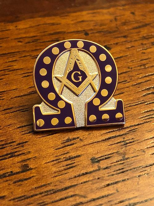 Omega Mason Lapel Pin