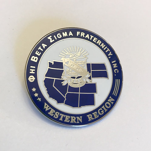 Phi Beta Sigma Western Region Pin