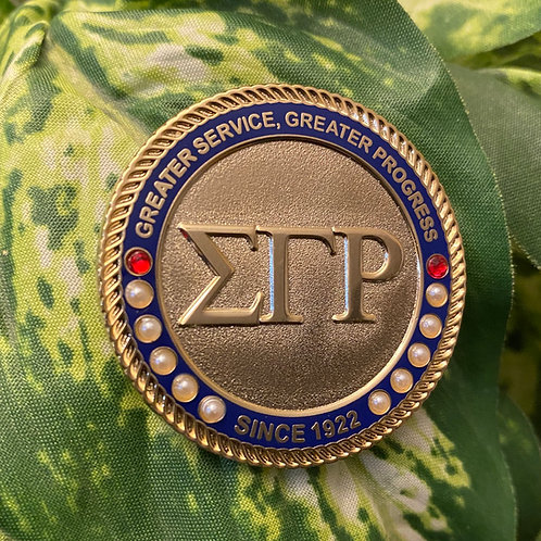 SGRho Gold Letter Executive Lapel Pin