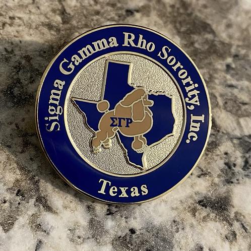 Sigma Gamma Rho Texas Lapel Pin