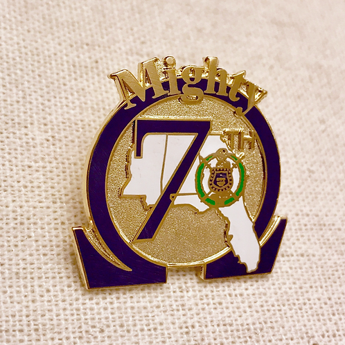 Omega Psi Phi District 7 Lapel Pin