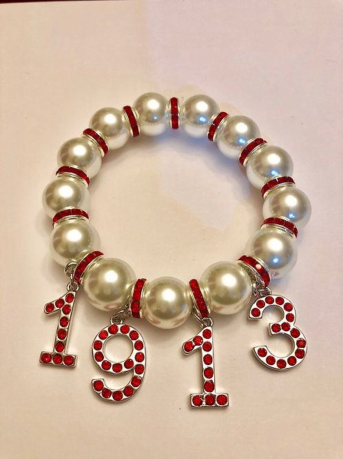 Delta 1913 Pearl Bracelet