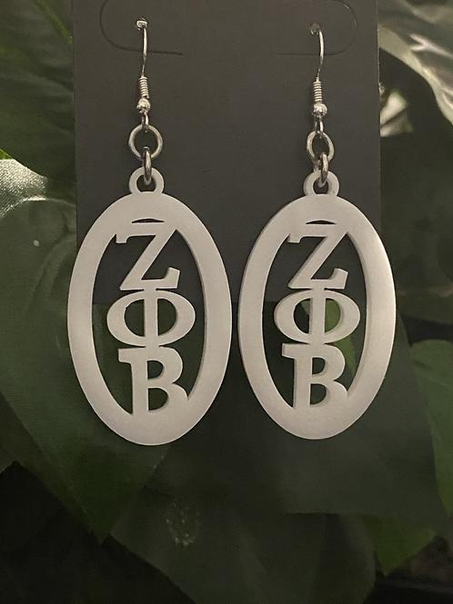 Zeta White Acryllic Earring Bundle