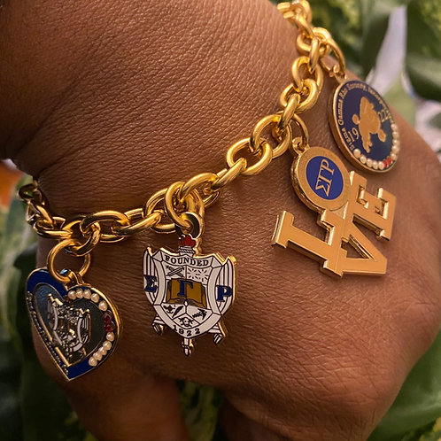 SGRho Stainless Build a Bracelet - 4 Charms