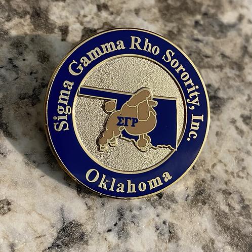 Sigma Gamma Rho Oklahoma Lapel Pin