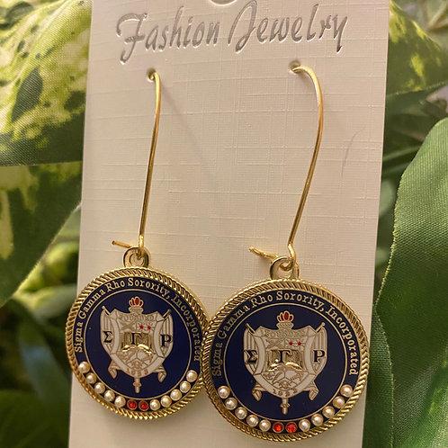 SGRho Rhoyal Shield Executive Earrings