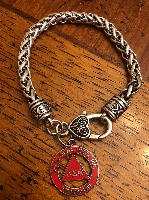 Delta Pyramid Lobster Claw Bracelet