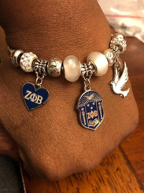 Zeta Phi Beta Shield Bracelet