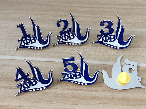 Zeta Phi Beta Line Number Pins