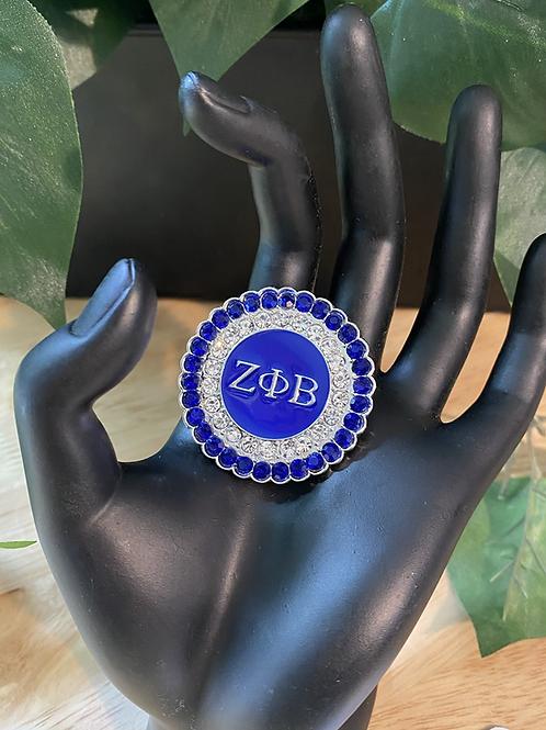 Zeta Phi Beta Crystal Lapel Pin