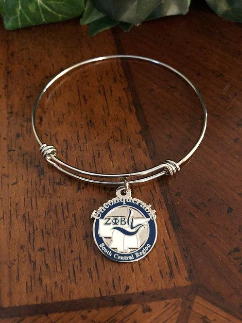 Zeta South Central Region Bangle Bracelet