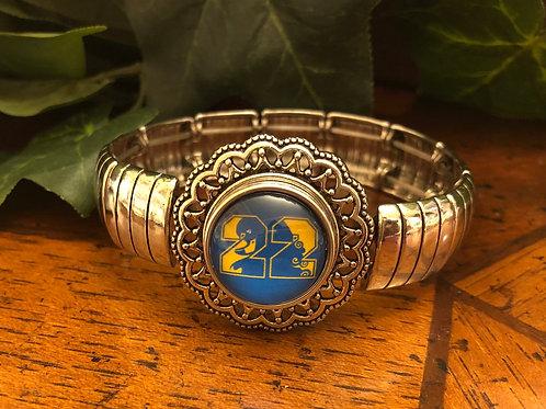 Sigma Gamma Rho Stretch Snap Bracelet