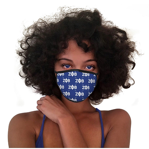 Zeta Phi Beta Cotton Mask