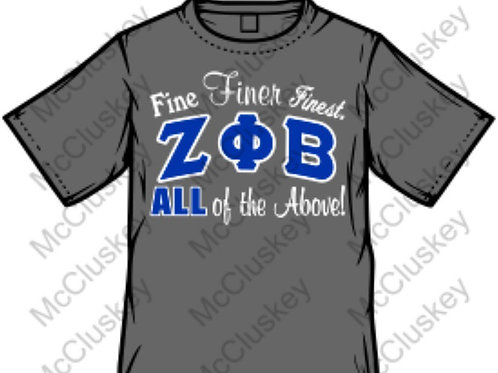 Zeta Fine Finer Finest T-shirt (Gray)