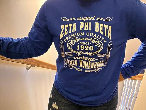 Zeta Phi Beta Royal Vintage T-shirt
