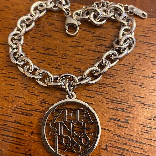 Zeta Since  (1980-2009) Stainless Bracelet