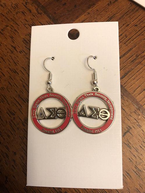 Delta Red LTR Cut Out earrings