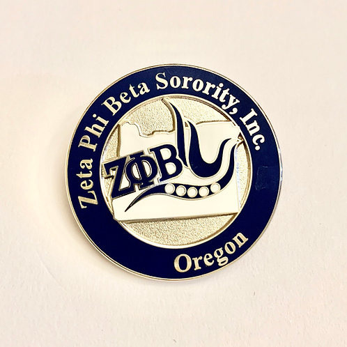 Zeta Phi Beta Oregon Lapel Pins