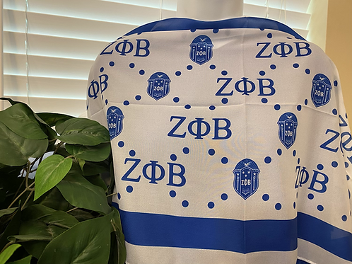 Zeta Shield and Letter Scarf (64x17)