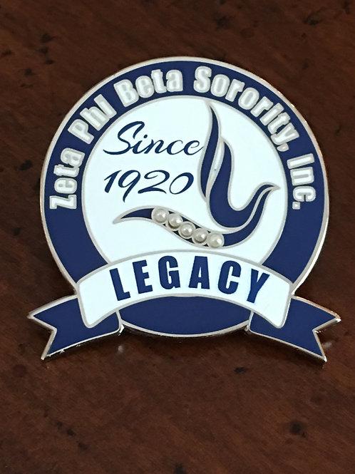 Zeta Phi Beta Legacy Pin