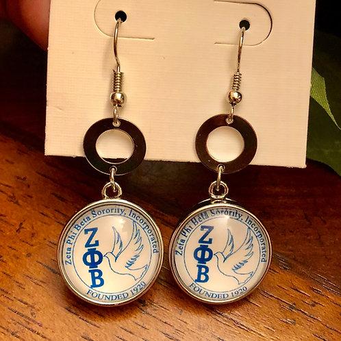 Zeta Phi Beta Snap Earrings