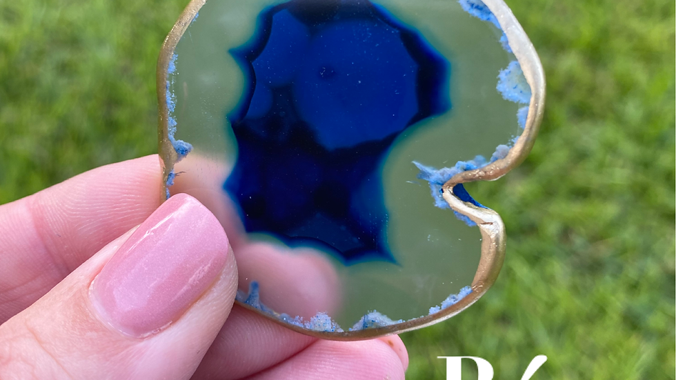 Agate Badge Reels, Blue and Green