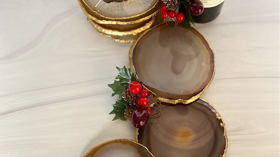 Large Neutral Coaster Set of 4