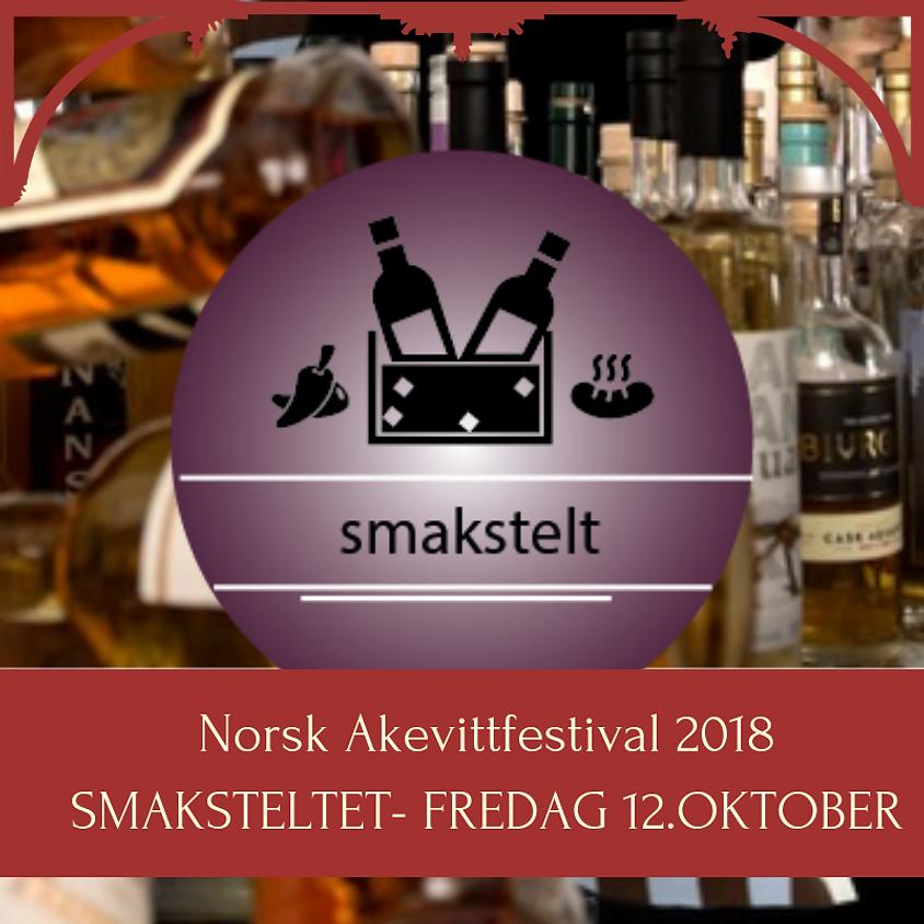 Norsk Akevittfestival 2018 / Inngang til Smaksteltet + smakshefte FREDAG