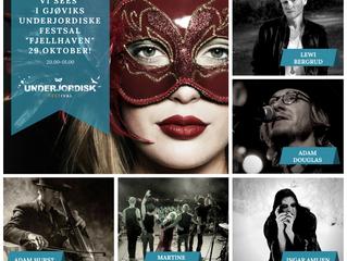 Artist line-up for Underjordisk Festival the 29th of October!