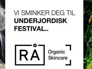 Festivalsminke fra RÅ Organic Skincare på Gjøvik!